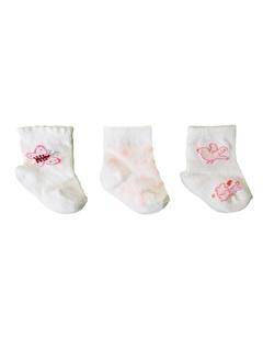 Bebengo Bebengo 3'Lü Soket Kız Bebek Çorabı 9504